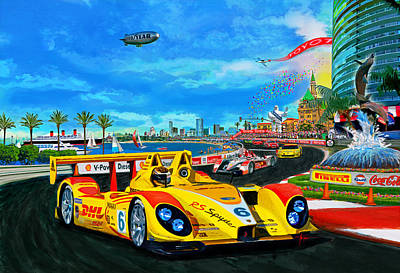 Painting - Street Racing by Alan Greene