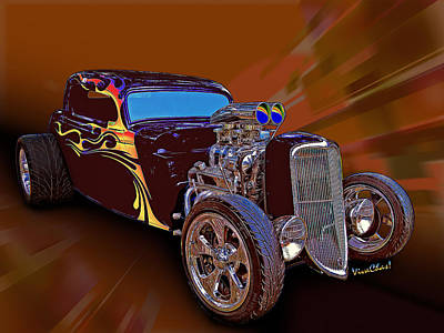 Street Rod What Is It Art Print by Chas Sinklier