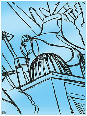 Drawing - Street Savvy by Stan  Magnan