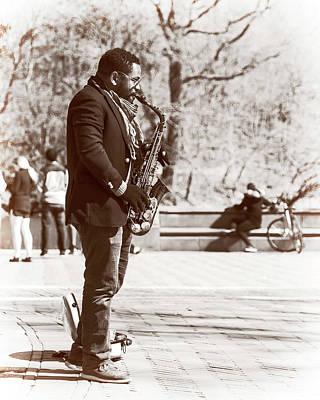 Photograph - Street Sax by Alan Raasch