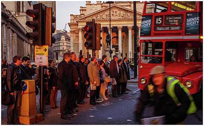 Photograph - Street Scene At Bank by Stewart Marsden