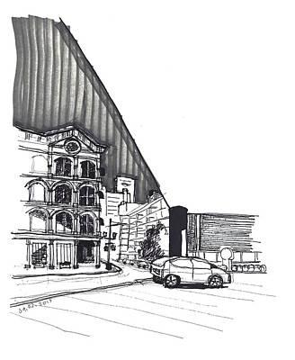 Street Scene At The Corner Of Capitol Hotel Original