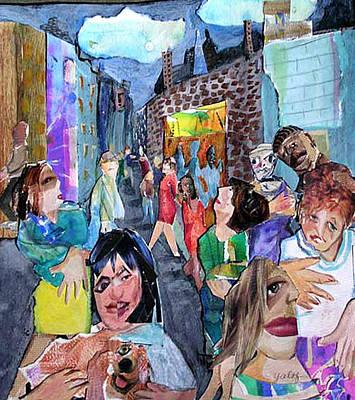 Mixed Media - Street Scene by Barbara Yalof