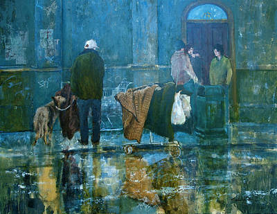Painting - Street Scene by E Colin Williams ARCA