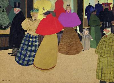 Shop Window Painting - Street Scene by Felix Edouard Vallotton