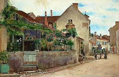 Street Scene From Vichy Art Print by Hjalmar Sandberg
