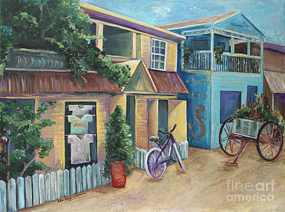 British Honduras Painting - Street Scene In Belize by Karen Ahuja