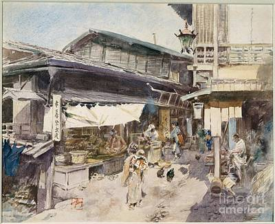 Blum Painting - Street Scene In Ikao, Japan by Celestial Images