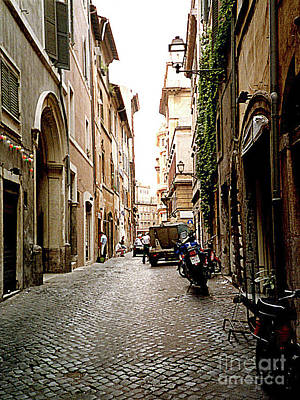 Photograph - Street Scene In Old Jewish Ghetto - Rome Italy by Merton Allen