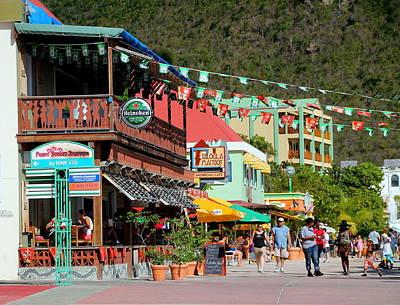 Photograph - Street Scene In Philipsburg St. Maarten by Laurel Talabere