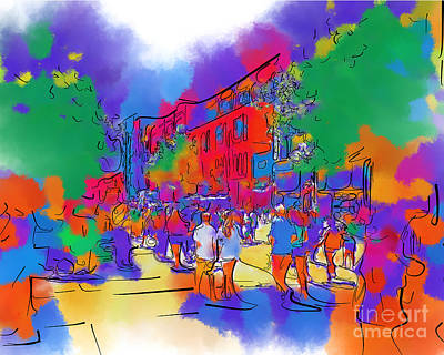 Digital Art - Street Scene In Soft Abstract by Kirt Tisdale