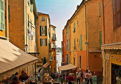 Photograph - Street Scene In Villefranche by Steven Sparks