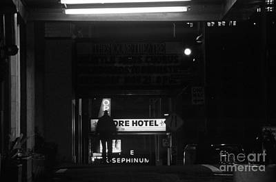 Photograph - Street Scene Nighttime by Jim Corwin