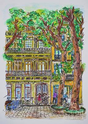 Painting - Street Scene by Olga Hamilton