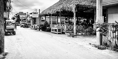 Photograph - Street Scene On Caye Caulker by Lawrence Burry