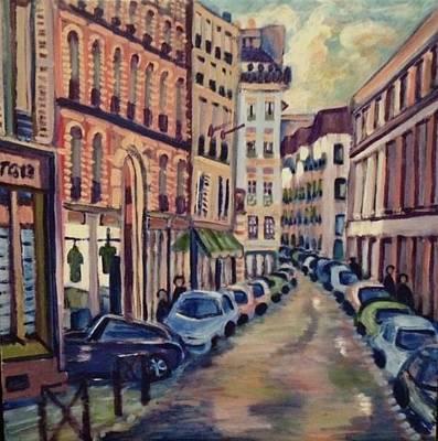Painting - Street Scene Paris 1 by Fran Steinmark