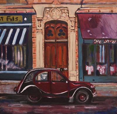Painting - Street Scene Paris 3 by Fran Steinmark