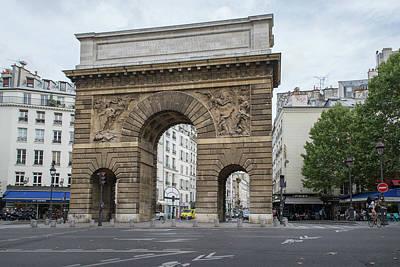 Digital Art - Street Scene Paris France Porte Saint-martin by Carol Ailles
