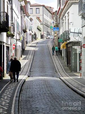 Photograph - Street Scene Ponta Delgada by Randall Weidner