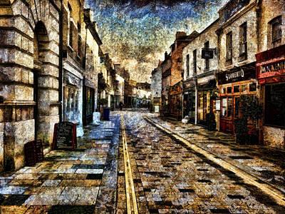 Digital Art - Street Scene - Twickenham by Leigh Kemp