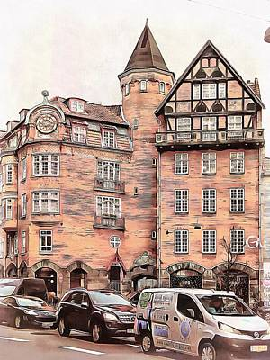 Photograph - Street Scene With Cars Copenhagen by Dorothy Berry-Lound