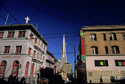 Photograph - Street Scene With Transamerica Pyramid  by Jim Corwin