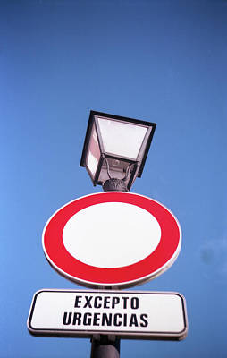 Photograph - Street Sign by Nacho Vega