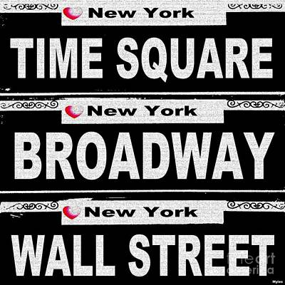 Painting - Street Sign Scenes Of New York by Saundra Myles