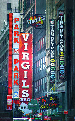 Photograph - Street Signs Of New York by Mark Andrew Thomas