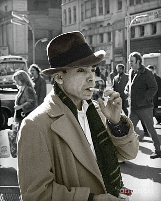 Photograph - Street Smoking Man by Martin Konopacki