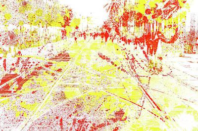 Digital Art - Street Splash by Andrea Mazzocchetti