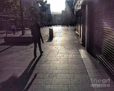 Photograph - Street Sun Reflections 3 by Joan-Violet Stretch