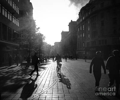 Photograph - Street Sun Reflections by Joan-Violet Stretch