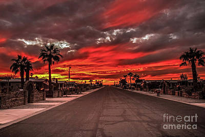 Photograph - Street Sunset by Robert Bales