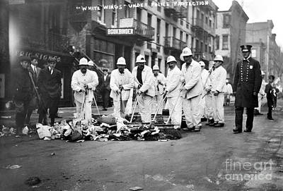 Street Sweepers, 1911 Print by Granger