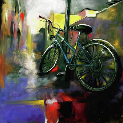 City Village Painting - Street Symphonies II 459 II by Mawra Tahreem