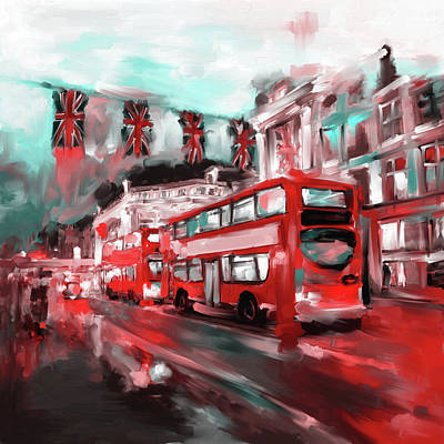 City Village Painting - Street Symphonies Vi 463 2 by Mawra Tahreem