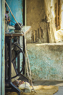 Photograph - Street Tailor In Mandu by Valerie Rosen