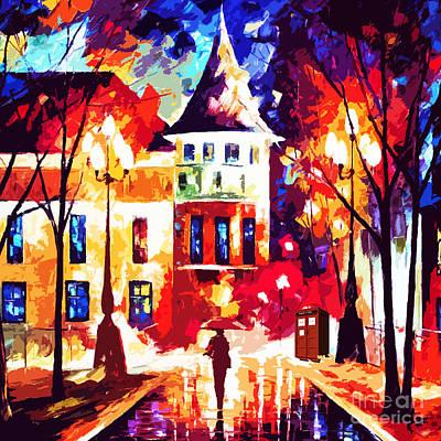 Tardis Painting - Street Tardis Art Painting by Mahniar Rangkuti
