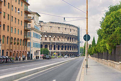 Photograph - Street To Coliseum In Rome, Italy  by Marek Poplawski