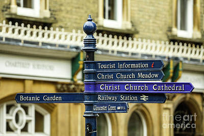 Photograph - Street Tourist Info, Oxford, England, Uk by Tom Rydel