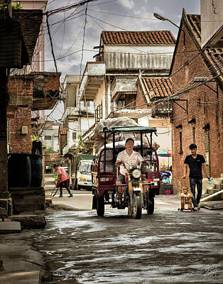 Photograph - Street Traffic In Shilong by Endre Balogh