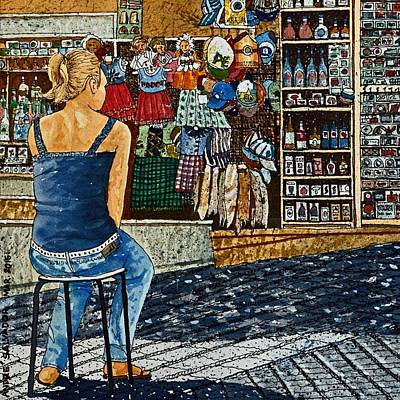 Painting - Street Vendor by Andre Salvador