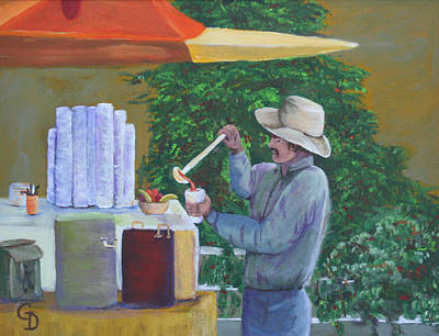Painting - Street Vendor by Gail Daley