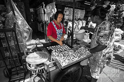 Photograph - Street Vendor In Bangkok by Charuhas Images