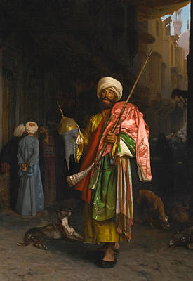 Jean-leon Gerome Painting - Street Vendor In Cairo by Jean-Leon Gerome