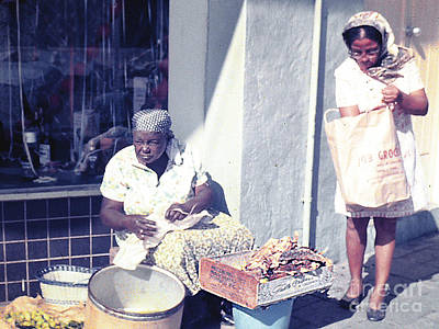 Photograph - Street Vendor In Martinique by Merton Allen