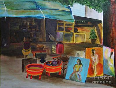 Street Vendor Art Print by Jo Baby