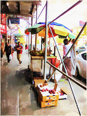 Painting - Street Vendors 2 by Lanjee Chee