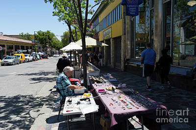 Photograph - Street Vendors On Telegraph Avenue At University Of California Berkeley Dsc6236 by San Francisco Art and Photography
